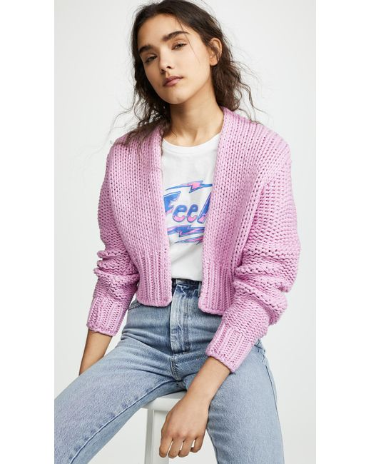 a3c37ebd84 Free People - Pink Glow For It Cardi - Lyst ...