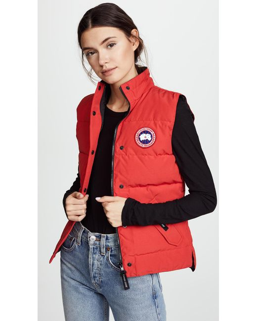 Canada Goose Red Freestyle Vest
