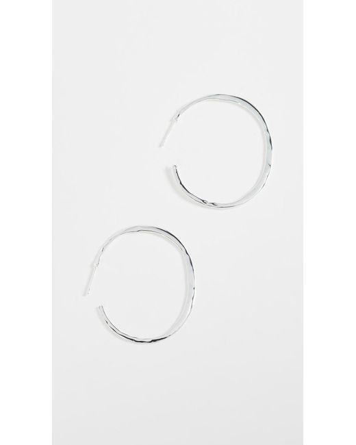 Gorjana   Metallic Arc Large Hoop Earrings   Lyst