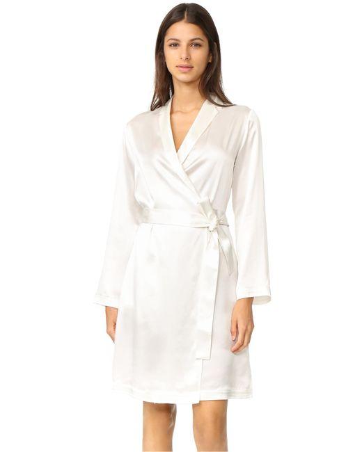 La Perla - White Silk Short Robe - Lyst