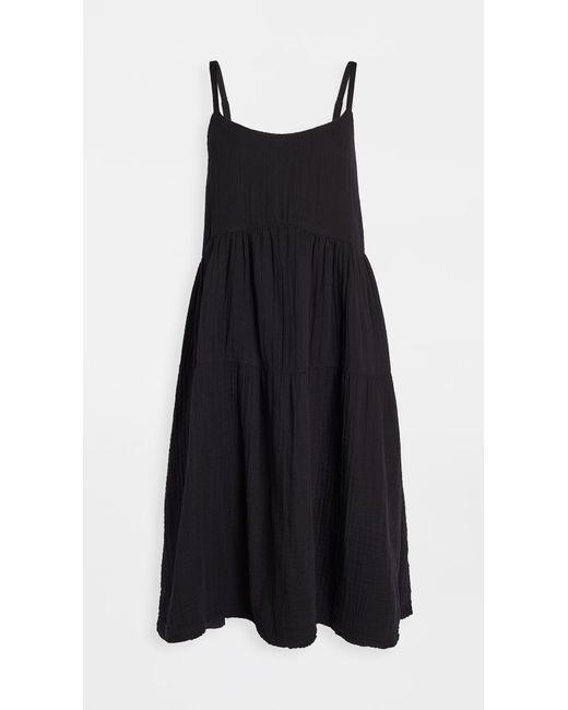 Wilt Black Tiered Slip Dress