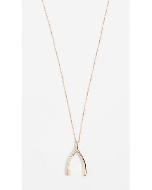 Jennifer Meyer Metallic Wishbone Necklace
