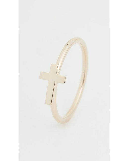 Jennifer Zeuner Metallic Theresa Cross Ring