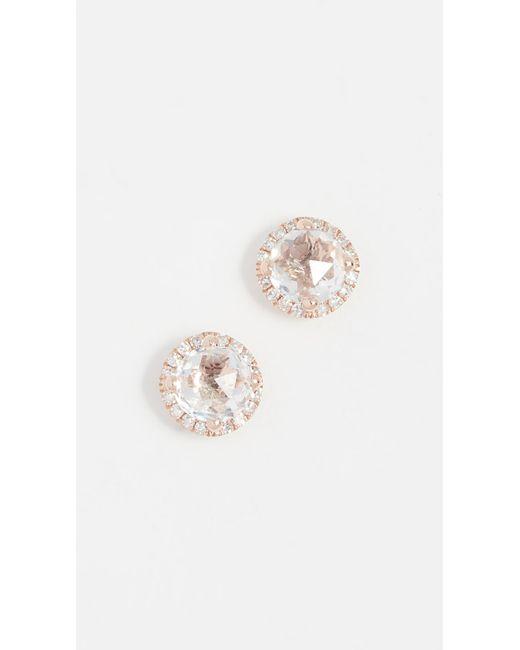 EF Collection - Metallic Diamond White Topaz Stud Earrings - Lyst