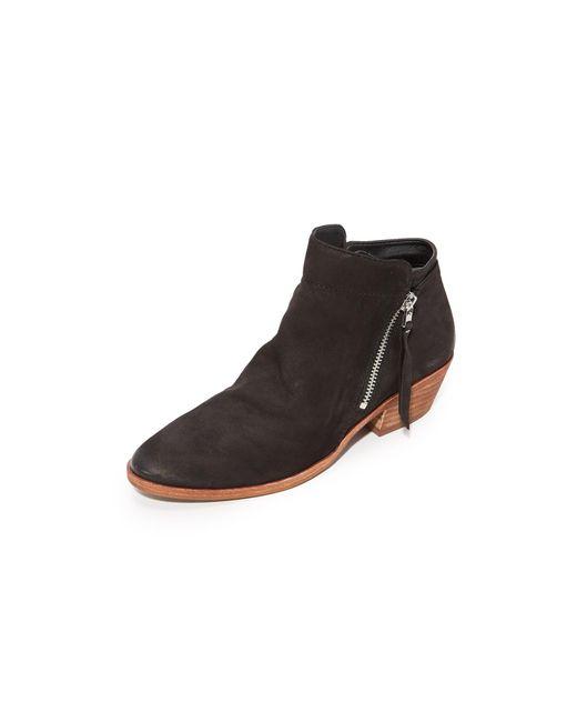 Sam Edelman - Black Packer (dark Taupe Velutto Suede Leather) Women's Zip Boots - Lyst