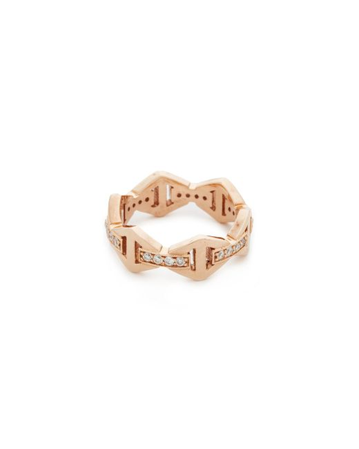 Walters Faith | Metallic Keynes Diamond Hexagon Stackable Ring | Lyst