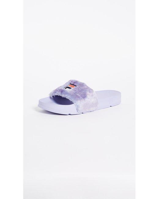 Baja East - Purple X Fila Slides - Lyst