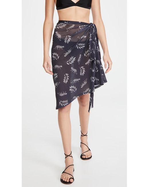 HVN Multicolor Mesh Wrap Skirt