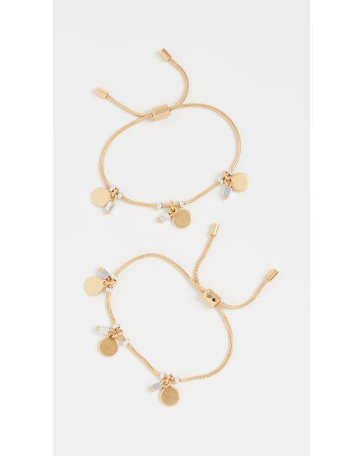 Madewell Metallic Disc Charms Friendship Bracelets
