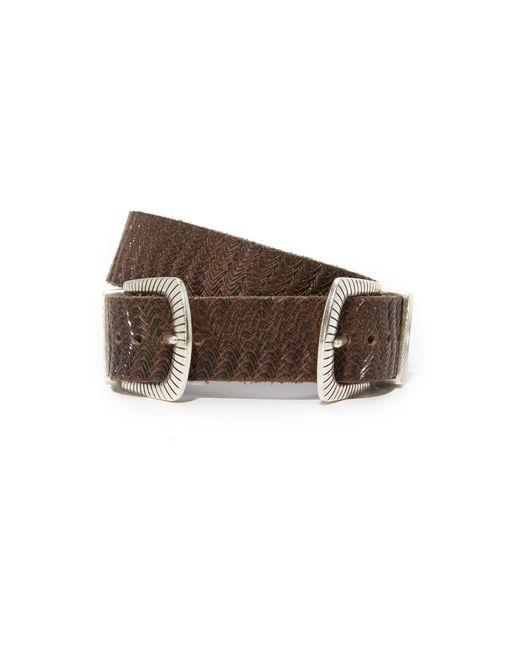 B. Belt | Brown Double Buckle Embossed Belt | Lyst