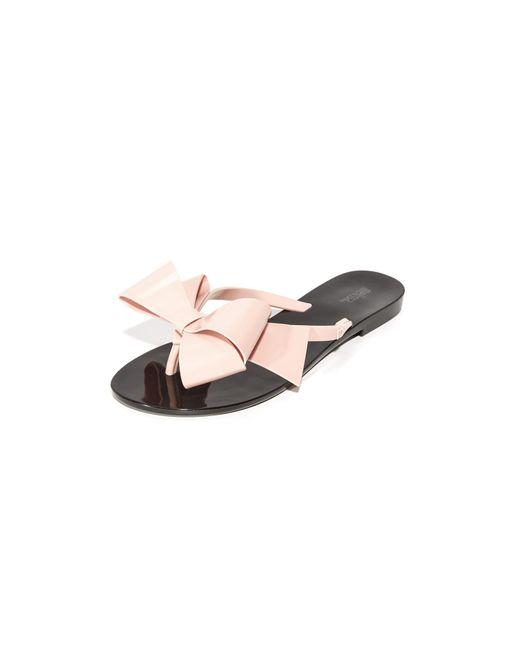 Melissa | Black Harmonic Bow Iii Thong Sandals | Lyst