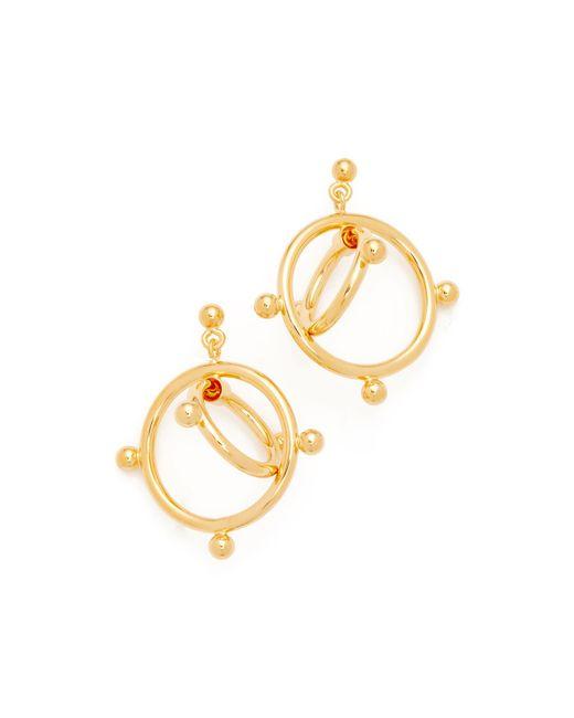 Marni | Metallic Earrings Double Circles | Lyst
