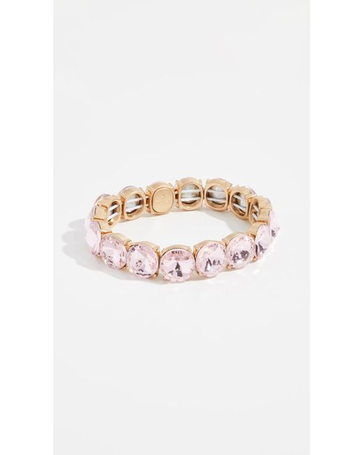 BaubleBar - Pink Large Crystal Statement Bracelet - Lyst