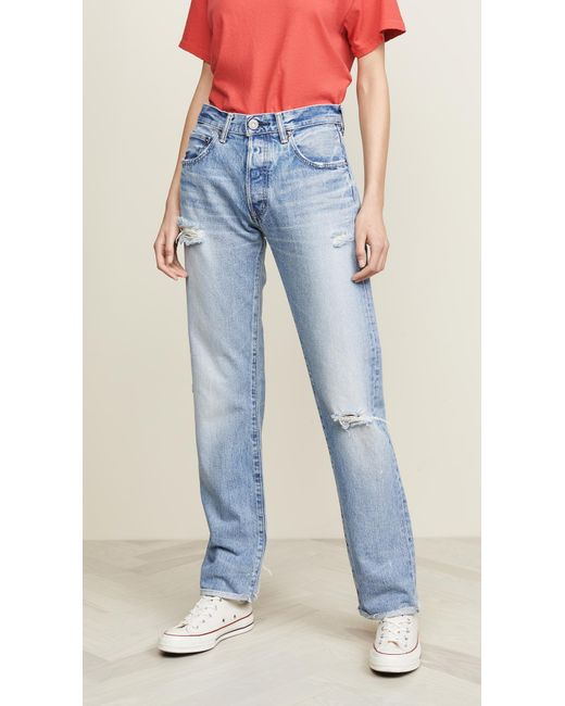 Moussy Blue Mv Steele Straight Jeans