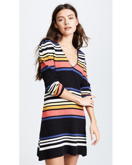 Free People | Black Gidget Sweater Mini Dress | Lyst