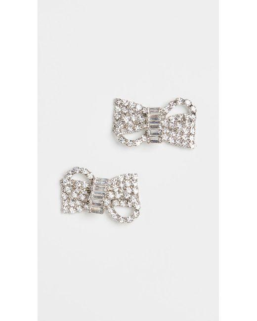 Jennifer Behr Multicolor Crystal Bow Stud Earrings