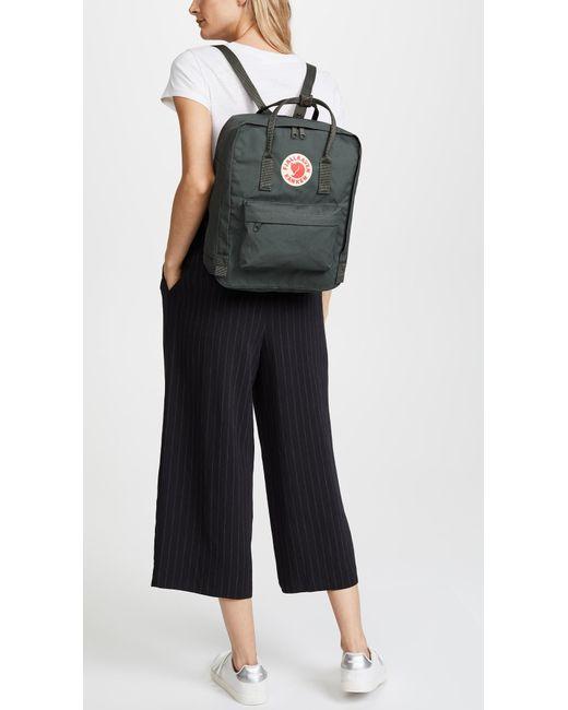 bd01104c59e Fjallraven Kanken Backpack in Green - Save 23% - Lyst