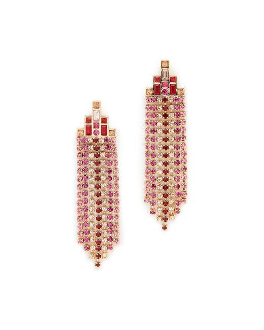 Rebecca Minkoff | Multicolor Baguette Stone Fringe Earrings | Lyst