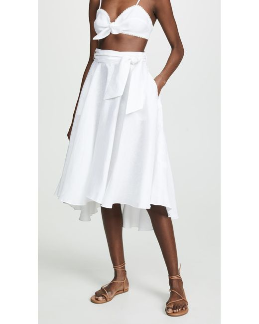 e8573aa05 Miguelina - White Gale Skirt - Lyst ...