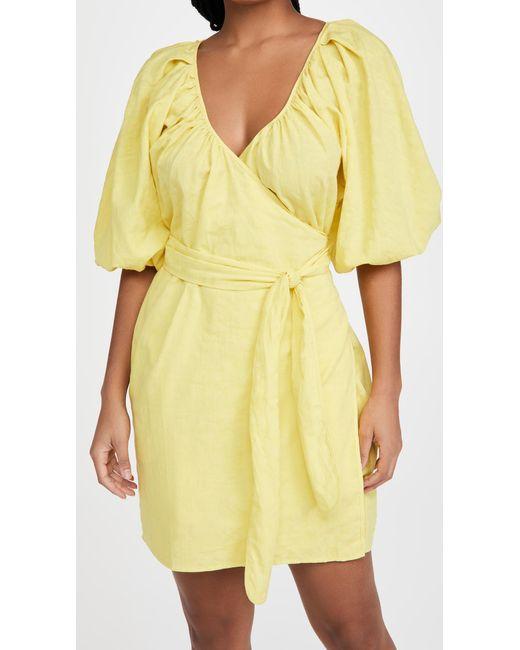 Mara Hoffman Yellow Coletta Dress
