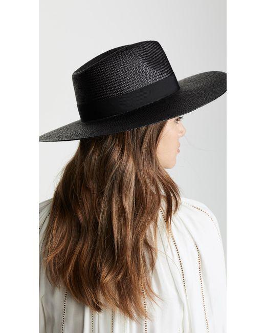 c363eebda Women's Black Wide Brim Panama Hat