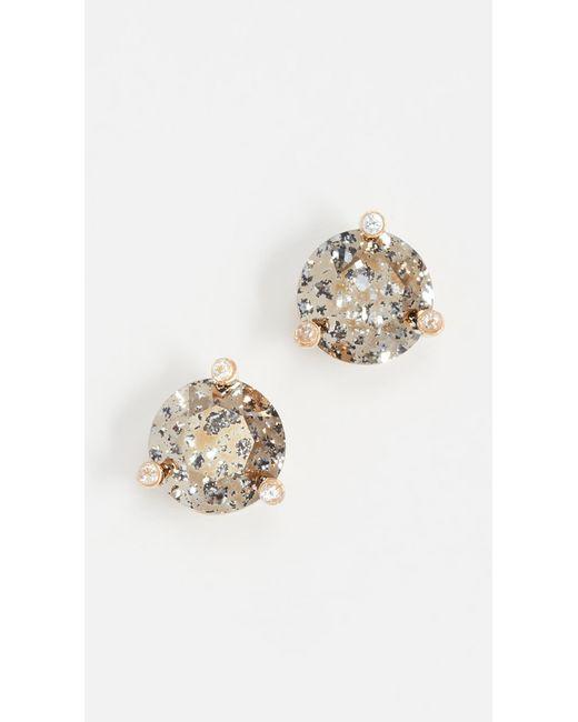 Kate Spade - Metallic Rise & Shine Small Stud Earrings - Lyst