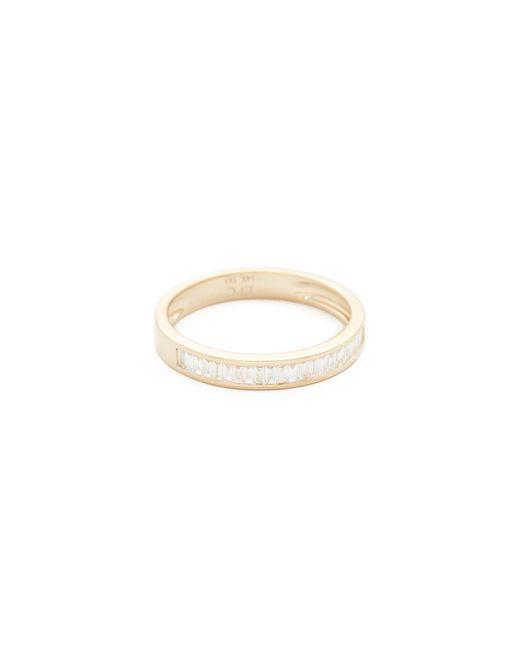 EF Collection | Metallic 14k Half Diamond Baguette Stack Ring | Lyst