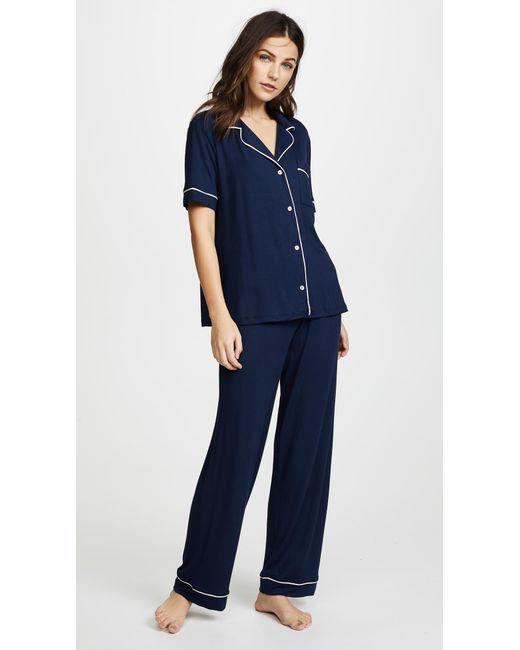 Eberjey | Blue Gisele Short Sleeve Pj Set | Lyst