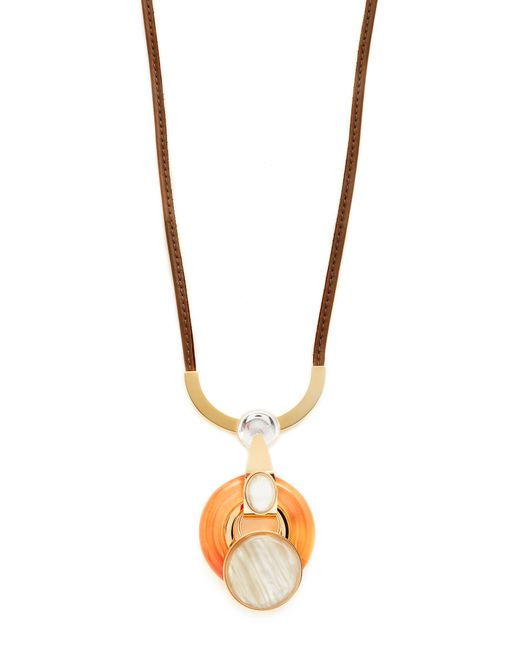 Marni | Orange Necklace With Metal & Resin | Lyst