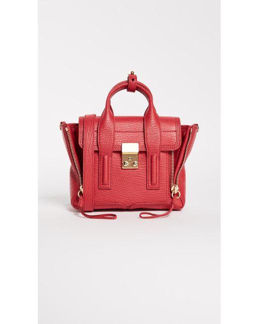 3.1 Phillip Lim Brown Pashli Medium Zip Satchel Bag