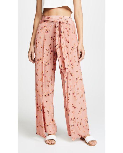 Faithfull The Brand - Pink Tiki Tiki Pants - Lyst