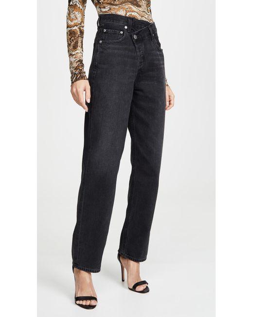 Agolde Multicolor Crisscross Upsized Jeans