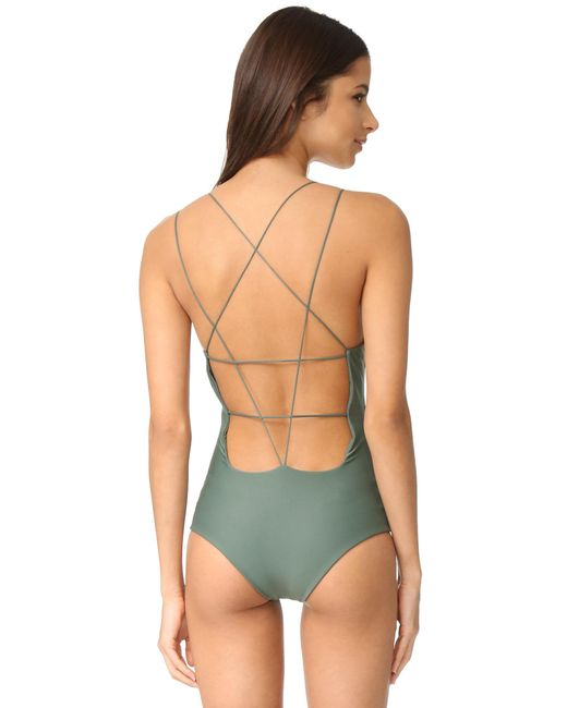 Mikoh Swimwear - Green Kilauea Swimsuit - Lyst