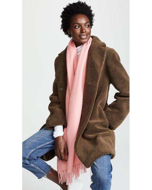 Rag & Bone - Pink Classic Wool Scarf - Lyst