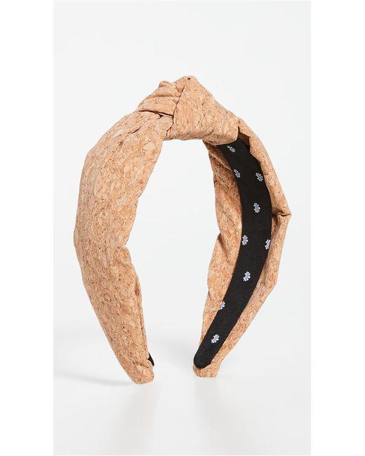 Lele Sadoughi Multicolor Cork Knotted Headband