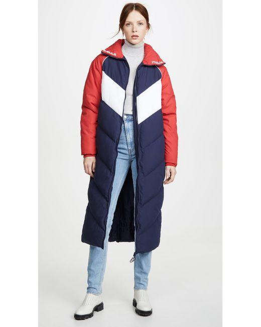 Fila Blue Keon Long Puffer Jacket