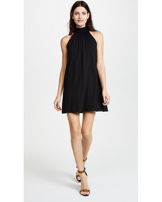 fc906aea978c Susana Monaco - Black Turtleneck Mini Dress - Lyst ...