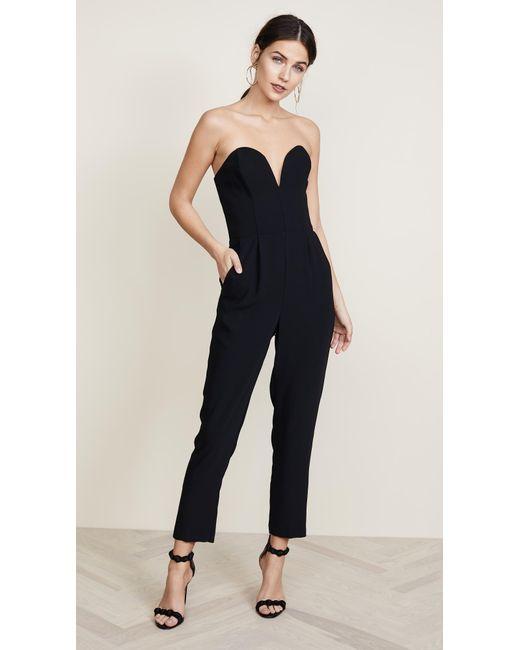 04b9ef2599b Lyst - Amanda Uprichard Cherri Jumpsuit in Black - Save 66%