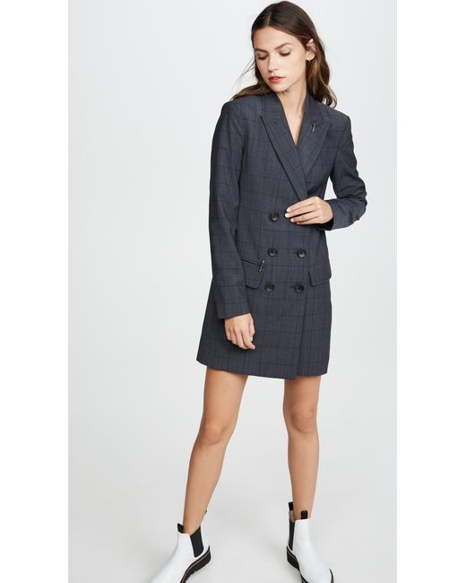 Tibi Gray Blazer Dress