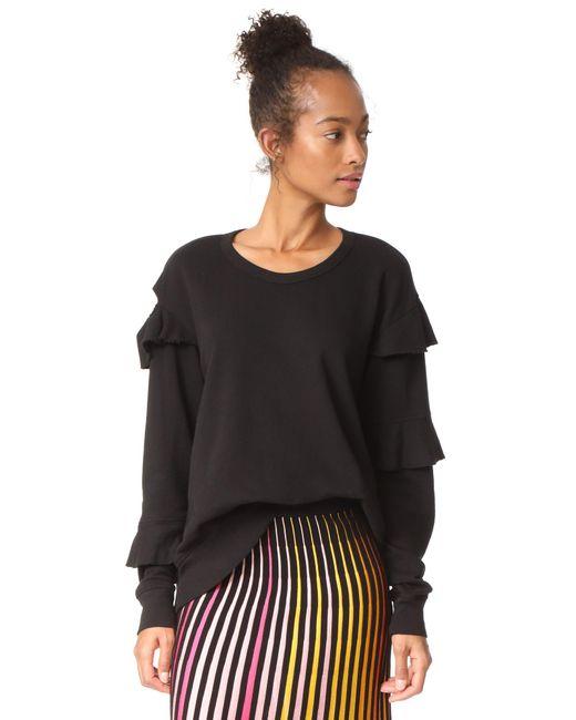 Wilt | Black Raw Ruffle Sweatshirt | Lyst
