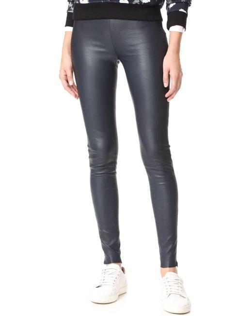 Mackage   Blue Navi Leather Pants   Lyst