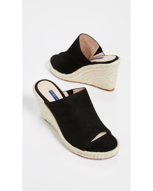 ade9bfda0a0 Black Women's Marabella Suede Espadrille Wedge Sandals