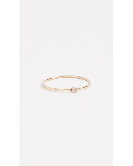 Jennifer Meyer Red 18k Gold Thin Ruby Ring