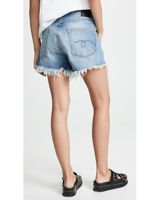 R13 Women's Blue Crossover Shorts