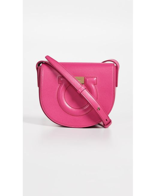 bc27a8481701 Ferragamo - Pink Gancio City Crossbody Bag - Lyst ...