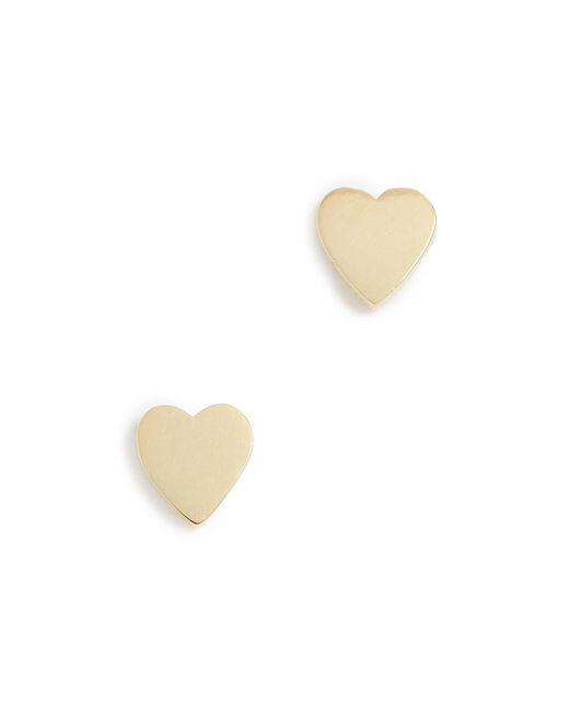 Jennifer Meyer Metallic Heart Stud Earrings