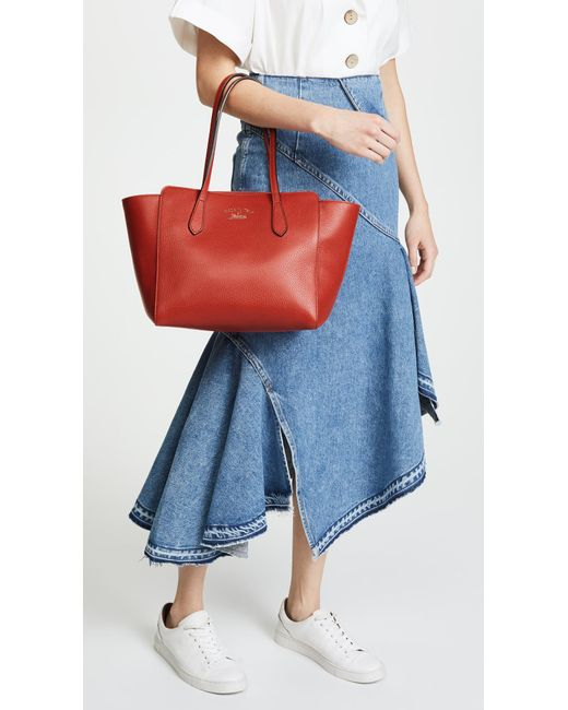 472df6d5746 ... What Goes Around Comes Around - Red Gucci Swing Tote - Lyst ...