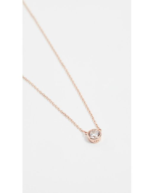 Shashi Pink Solitaire Necklace