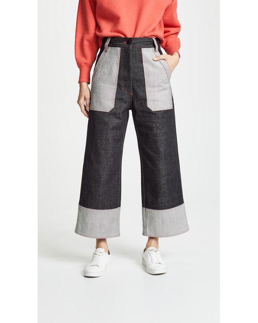 Lee Mathews - Blue Japanese Denim Culotte Jeans - Lyst