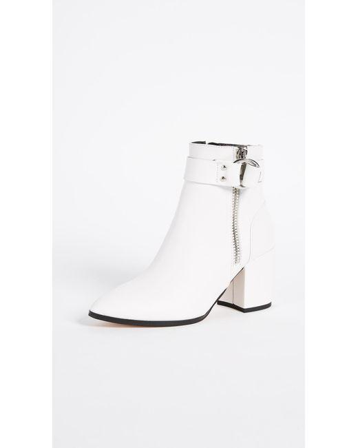 Steven by Steve Madden - White Johanna Block Heel Ankle Boots - Lyst